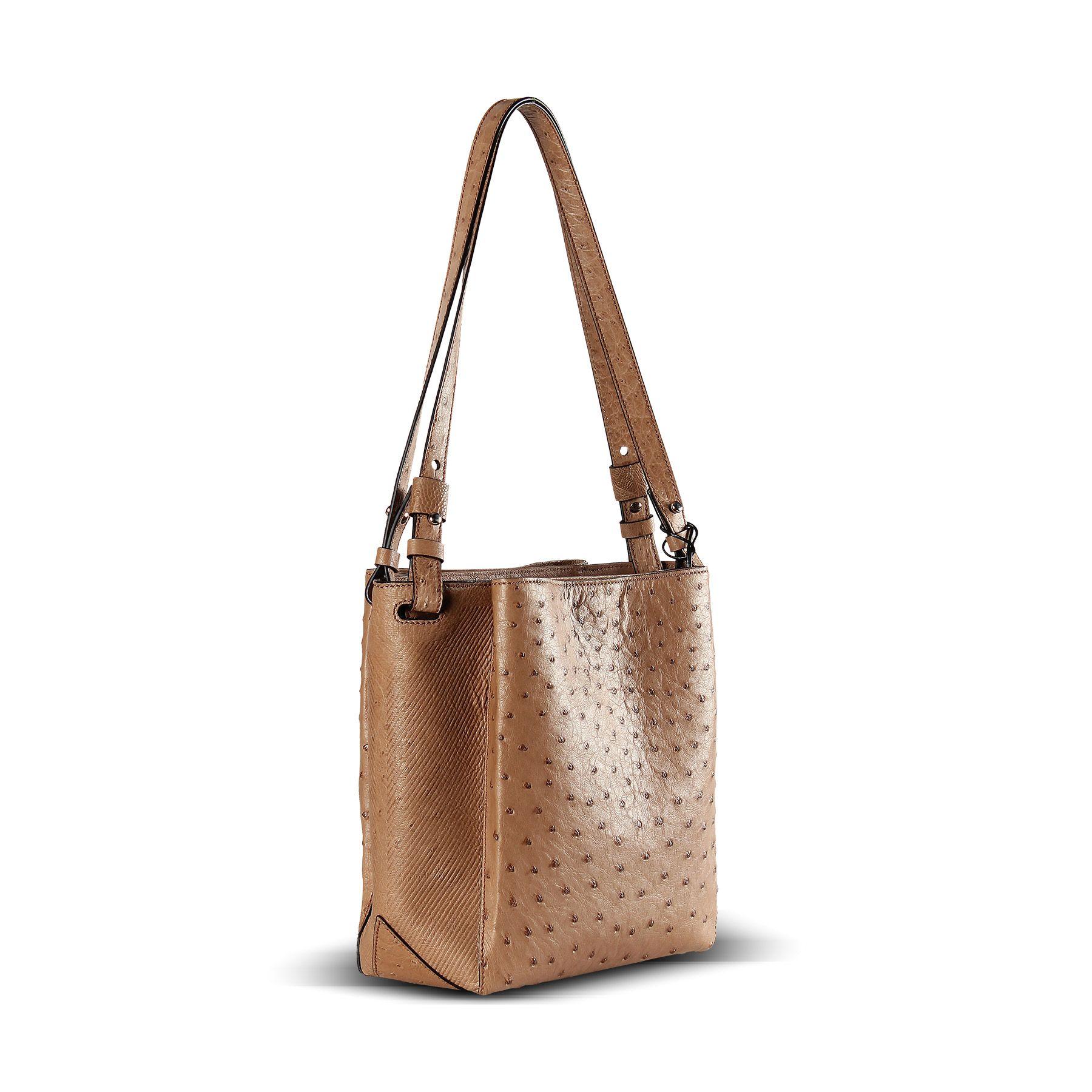 Genuine Ostrich Leather Handbag From Via Veneta Provoque Part Of The La Moda Group