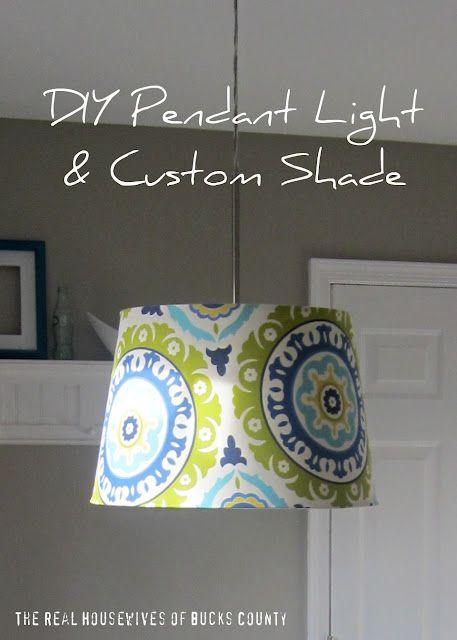 DIY Pendant light and custom shade from Iheartnaptime blog.