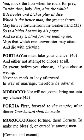 Merchant Of Venice Act 2 Scene 1 Translation Meaning Annotation Http Www Aplustopper Com S Meant To Be English Reading Acting Paraphrase Pdf Download