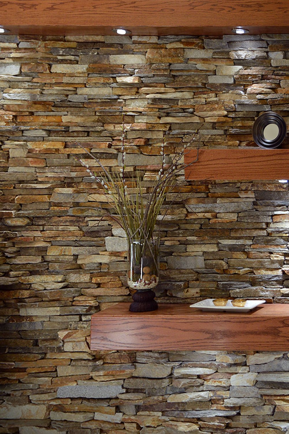 Ledgestone Fireplace Surround Interior Stone Veneer Mantel