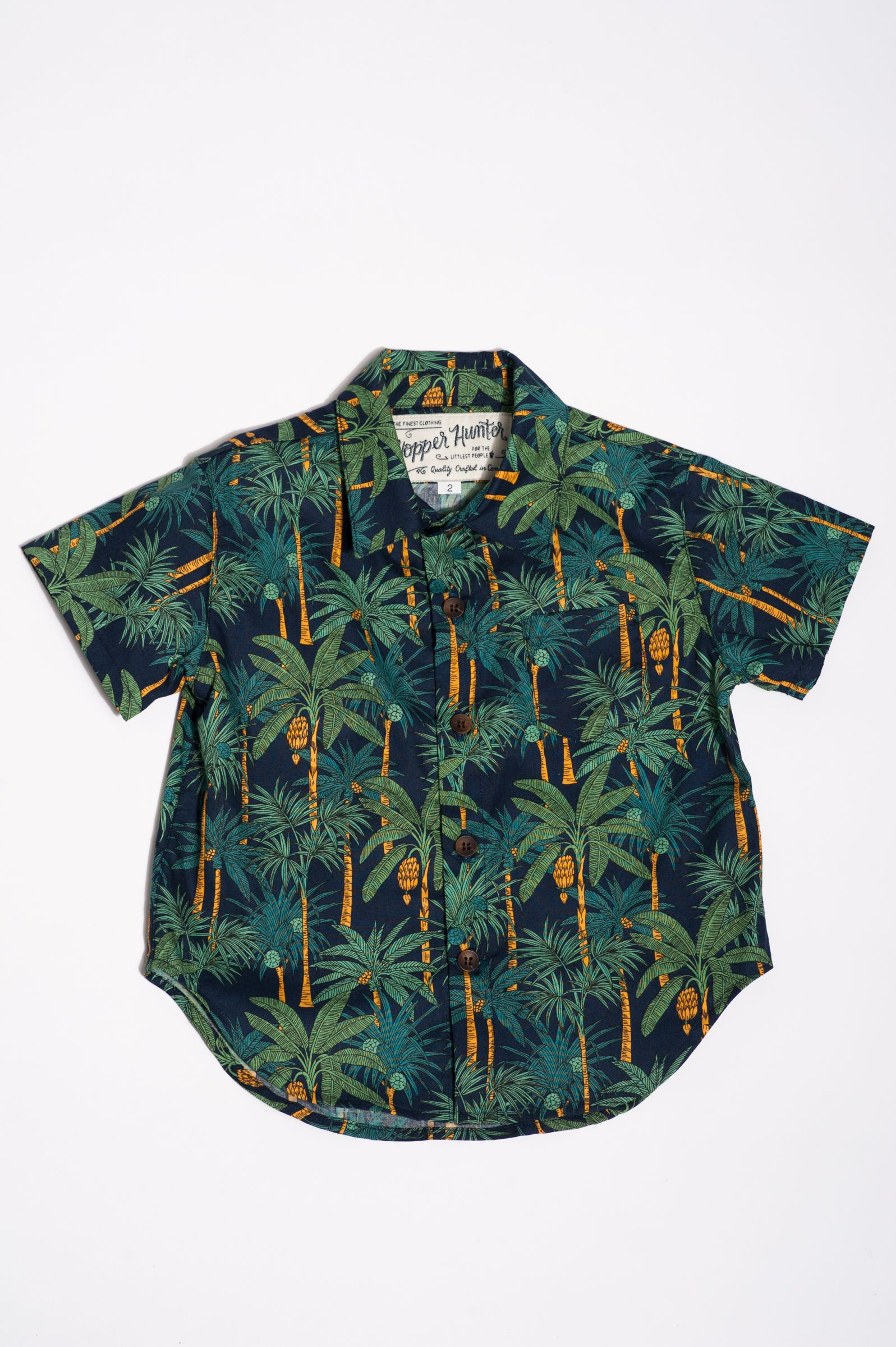 The Short Sleeve Hopper Shirt | Navy Palms https://18waits.com/collections/spring-summer-2017/products/hopper-hunter-short-sleeve-hopper-shirt-navy-palms