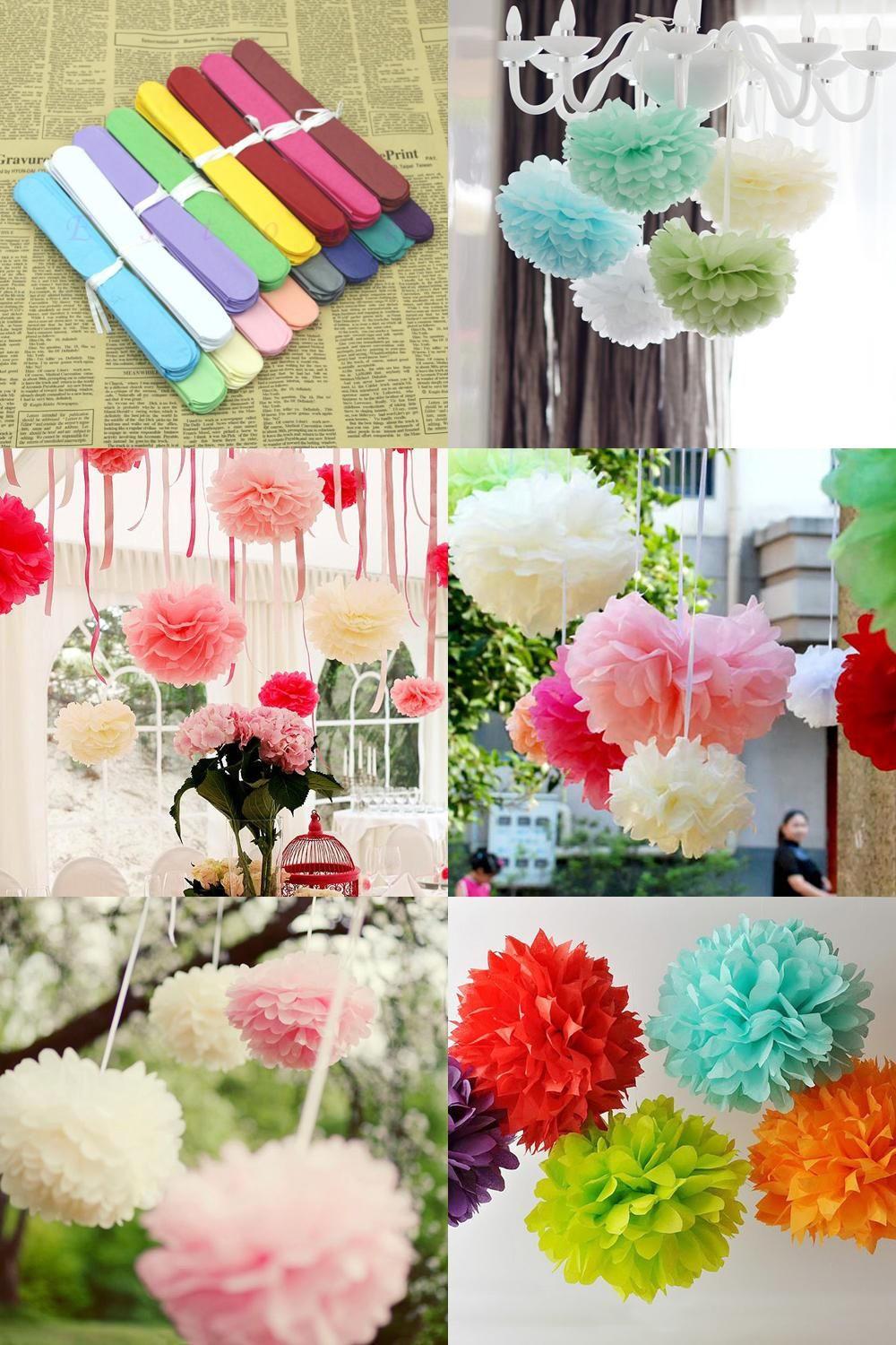 Visit To Buy 1pcs Handmade 1025cm Diy Tissue Paper Pom Poms