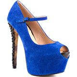 Betsey Johnson's Blue Belll - Blue Suede for 139.99 direct from heels.com