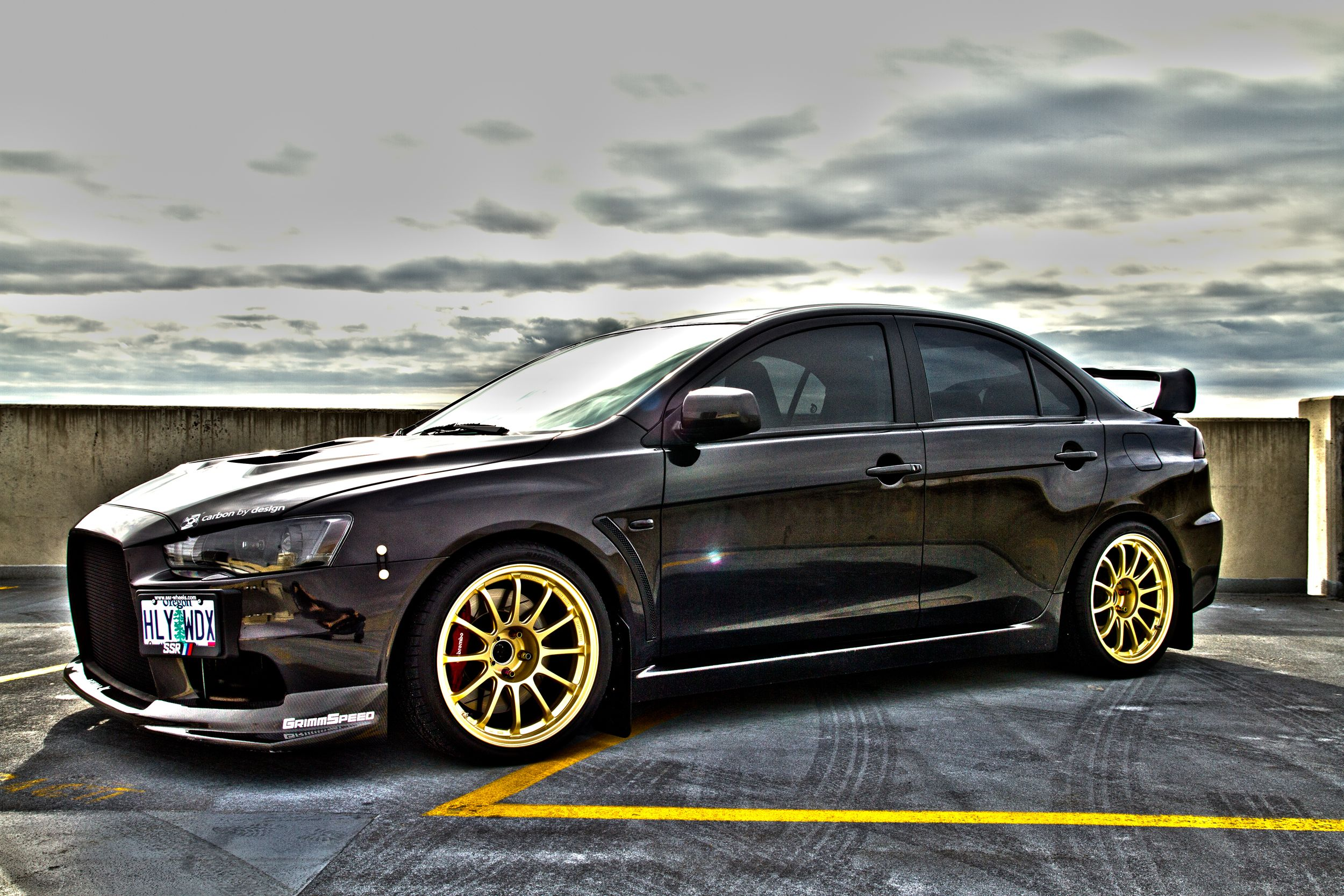evo x sitting on ssr type f gold wheels now go clean the drool off your keyboard - Mitsubishi Evo X Custom