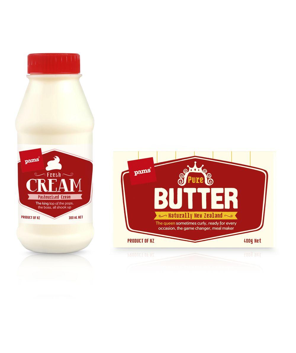 Pams Milk, Butter & Cream — The Dieline