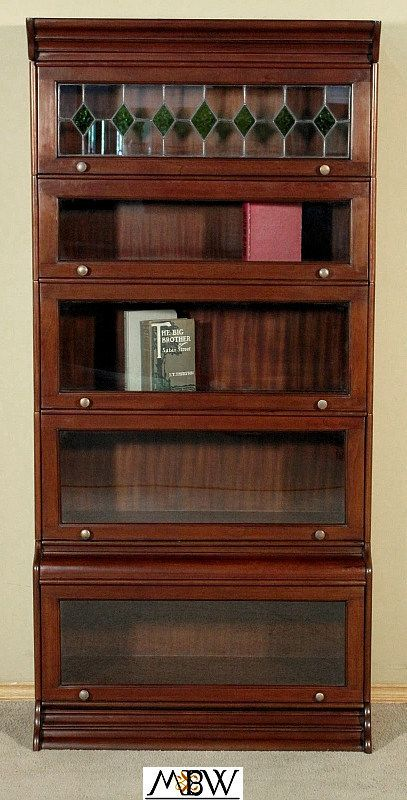 Solid Mahogany Stackable Barrister Attorney S Lawyer Bookcase Bookshelf