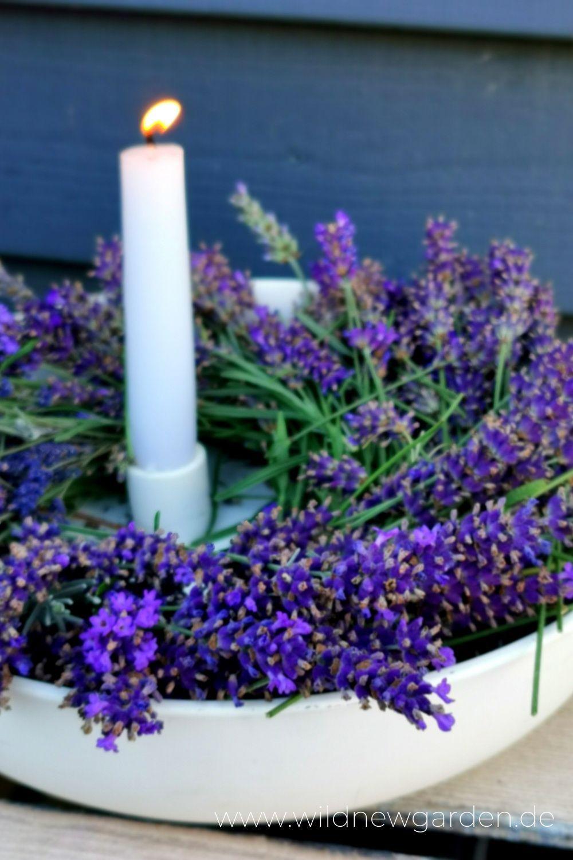 Lavendelkranz In 2020 Lavendelbluten Lavendelkranz Cottage Garten
