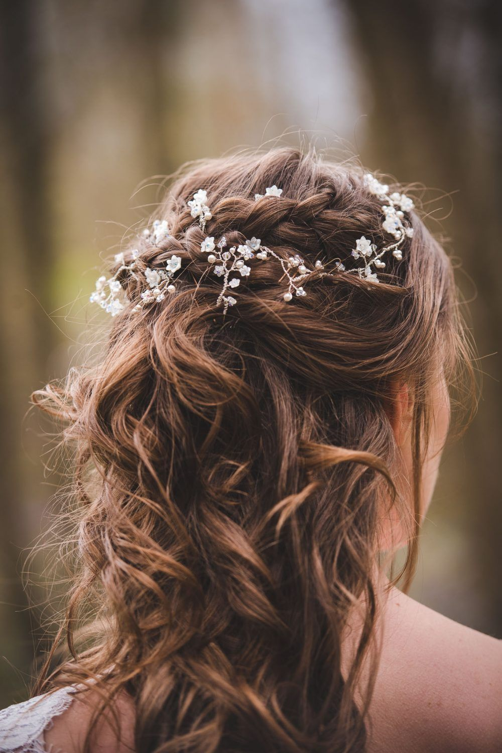 Floral Bridal Hair Vine - PS With Love Jewellery Design