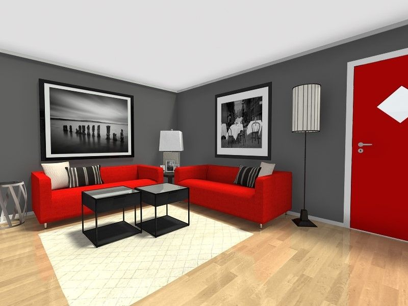 Small Room Ideas Open Living And Dining Room Furniture Layout Grey Walls Living Room Red Living Room Decor Red Living Room Walls