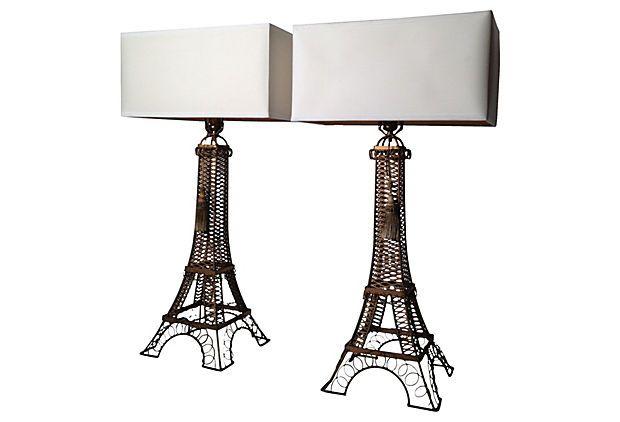 1930s Eiffel Tower Lamps Pair Eiffel Tower Lamp Lamp Girl Cave
