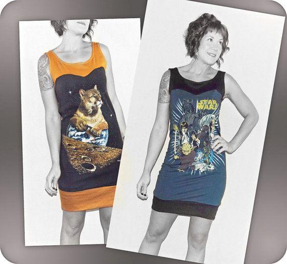 Tshirt dress UPcycle idea (No tutorial) | Grown Up Fashion ...