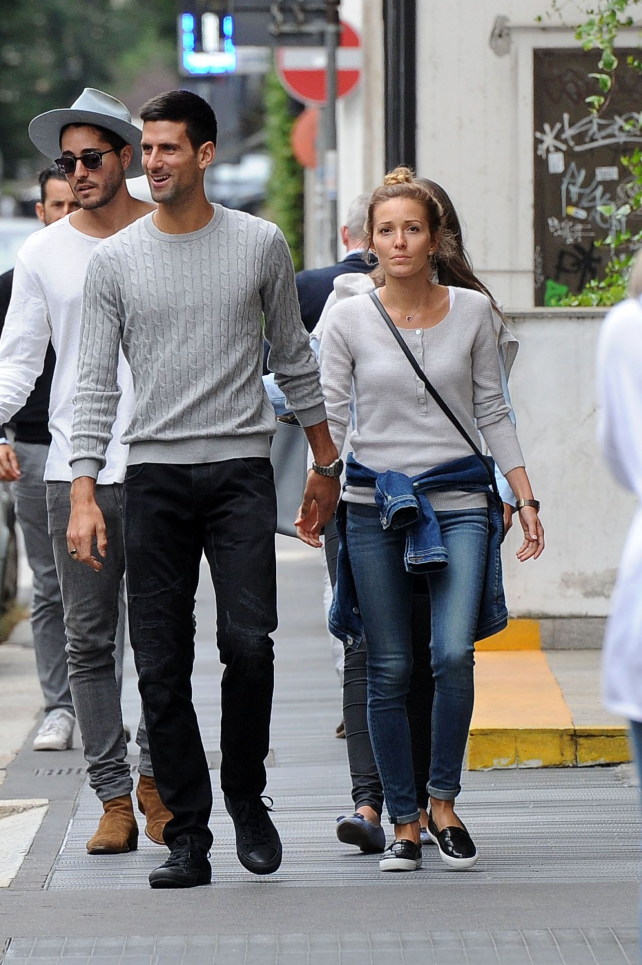 Jelena Djokovic with husband Novak Djokovic