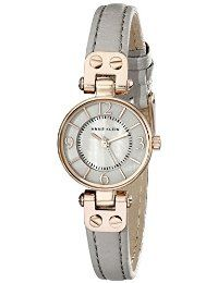 Anne Klein Women's AK/2030RGTP Rose Gold-Tone Watch With Grey Leather Band @ http://infinitystreets.com/amz/watch-leather-watch/15?a=6637