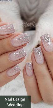 Nail Design Metalic For Wedding Nägel sind für viele Bräute heutzutage ein ... - #nageldesing #makeupforbrides
