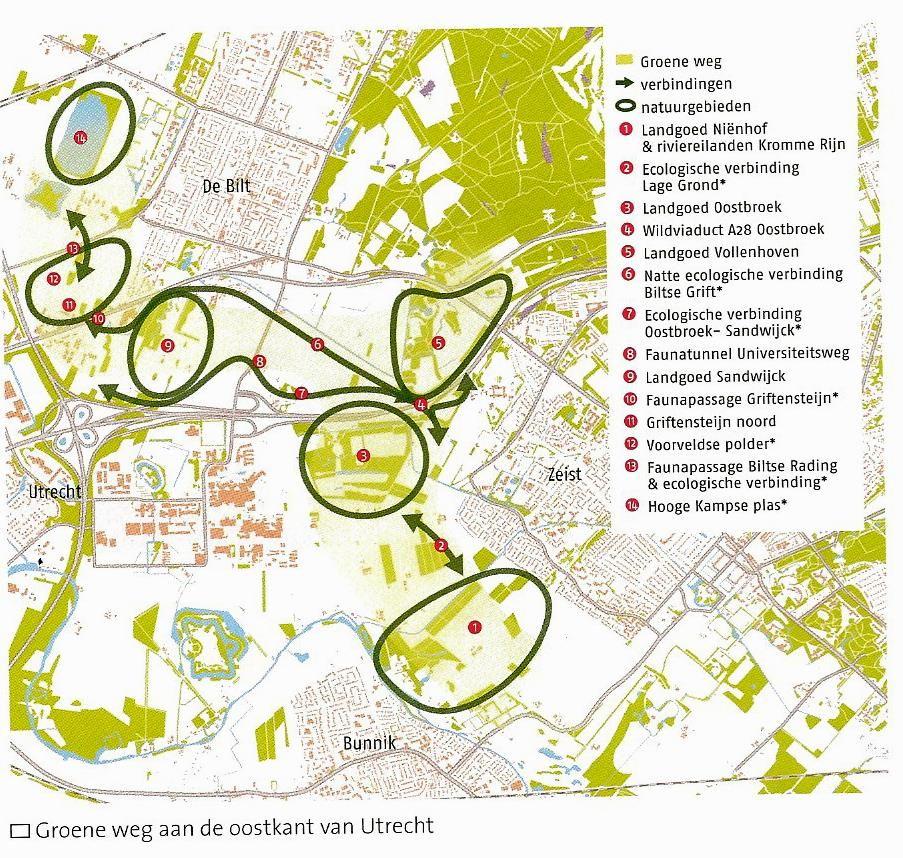Kaartje Faunaverbindingen Tussen De Bilt Zeist En Utrecht