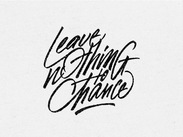 Image result for leave nothing to chance quote
