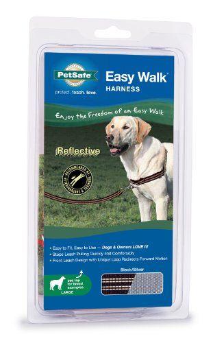 Reflective Easy Walk Dog Harness, Large, Black - http://www.thepuppy.org/reflective-easy-walk-dog-harness-large-black/