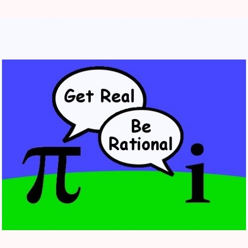 pi and imaginary number - get real, be rational shirt