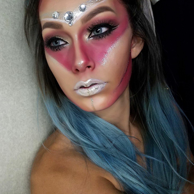 Halloween look. Apocalypse, pink and jewels Looks