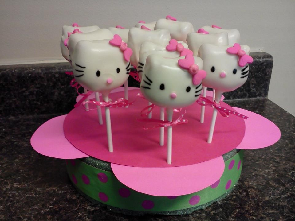Hello Kitty cake pops My Sweet Creations Saras Sweet Haven
