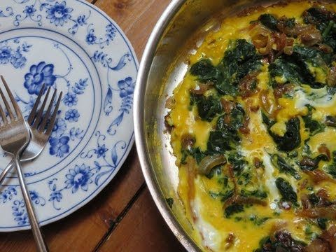 Spinach Omelette- Persian Breakfast, Nargesi