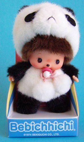 """Bebichhichi: Original Sekiguchi 6"""" Panda Baby Monchhichi"""