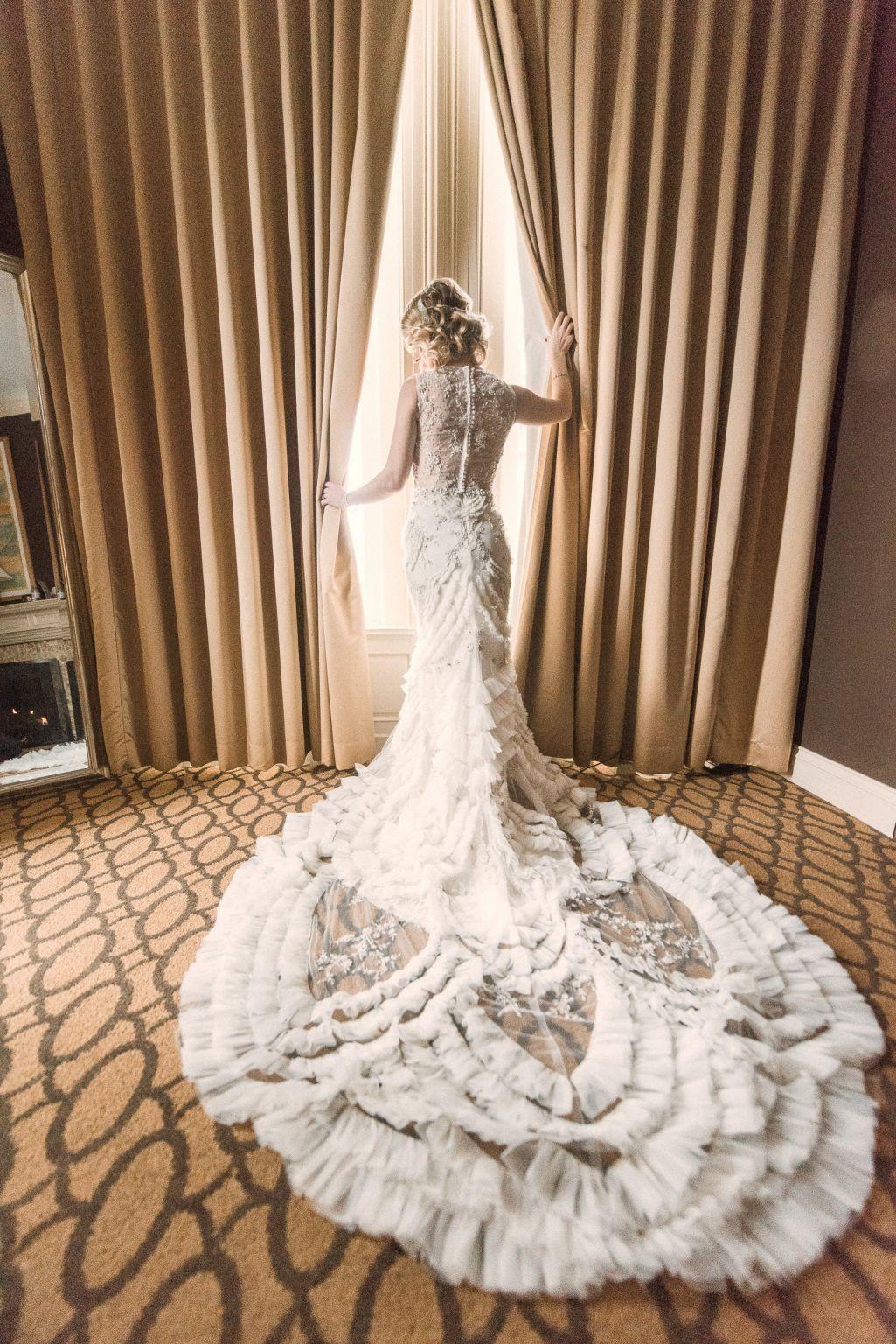 Lazaro 3454 Wedding Dress Used Size 12 1 500 Art Deco Wedding Dress Ruffle Wedding Dress Boho Wedding Dress Bohemian