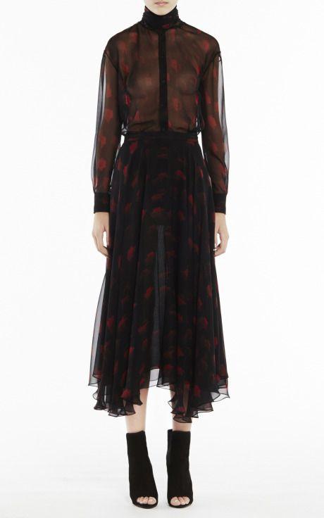 Georgette Flare Skirt by Josh Goot
