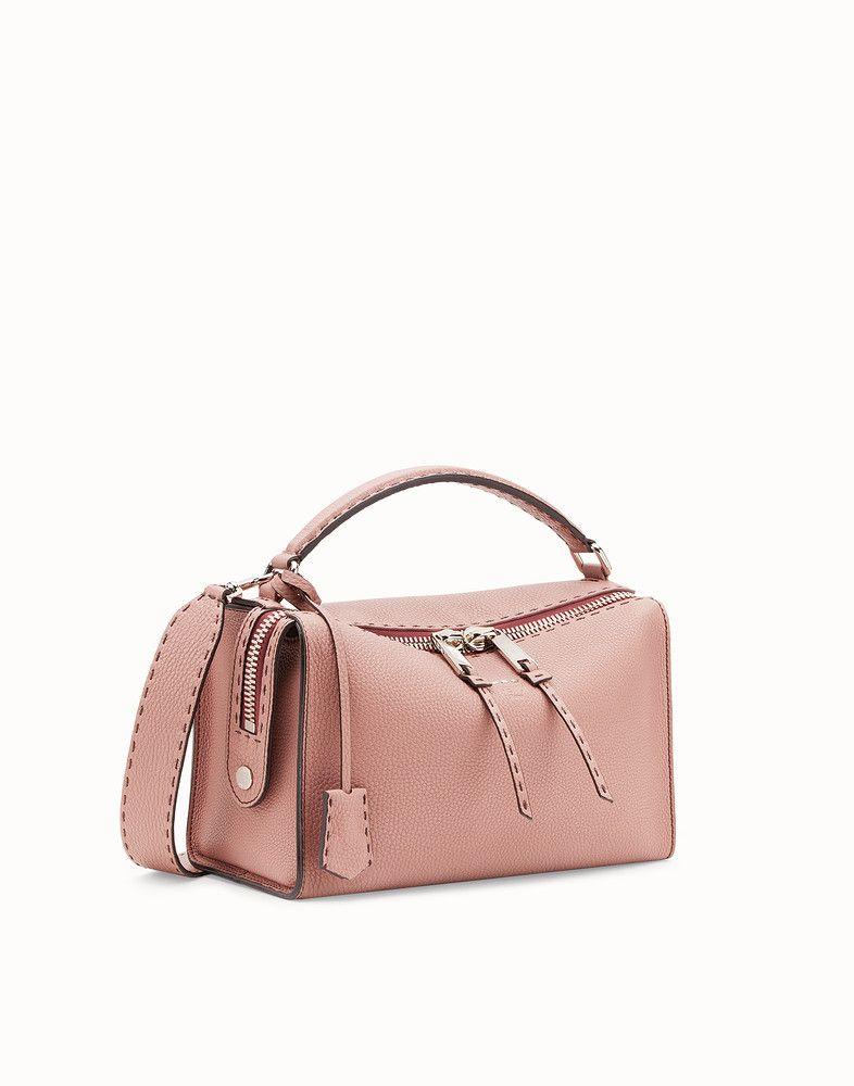 27c0148c156b FENDI LEI SELLERIA BAG - Pink leather Boston bag - view 2 detail