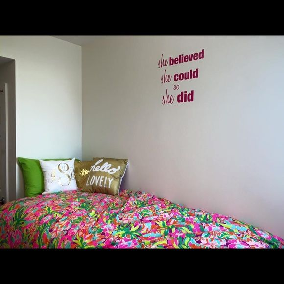 Multi Lulu Lilly Print Twin Xl Duvet Comforter Duvet Comforters