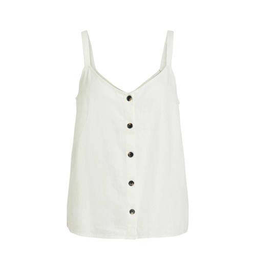 VILA mouwloze top met knopen wit   Tops, Knopen, Nieuwe mode