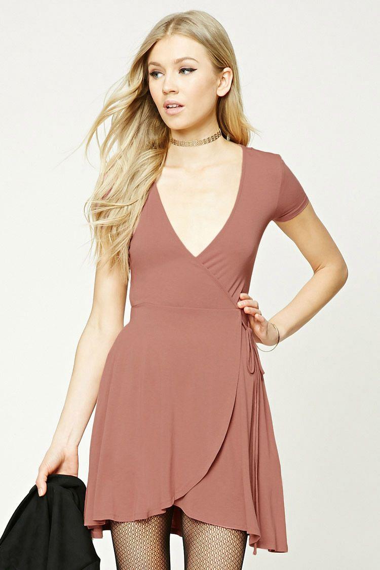 Surplice Wrap Dress Short Sleeve Maxi Dresses Tulip Wrap Dress Dresses [ 1125 x 750 Pixel ]