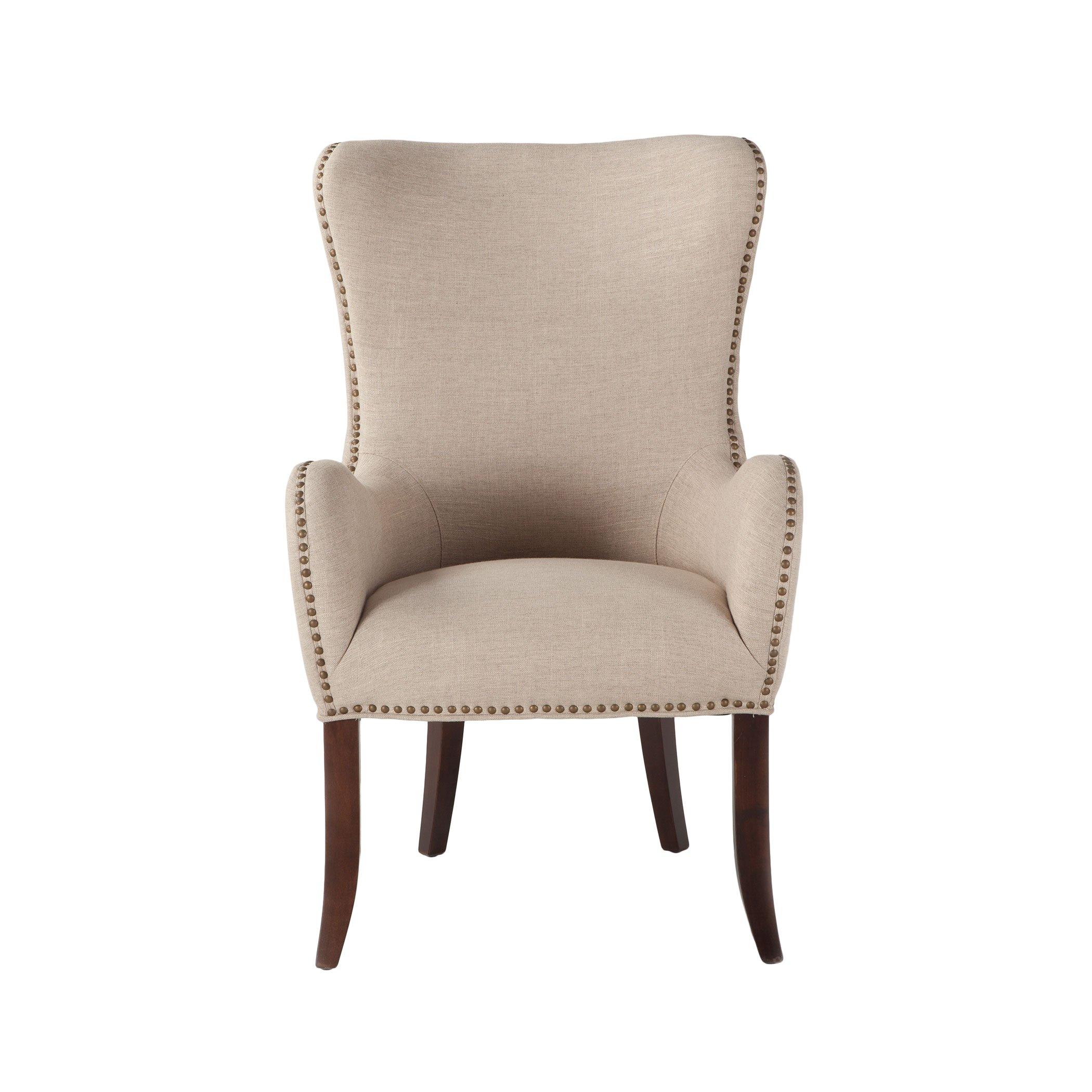 Best Garner Studded Accent Chair Linen Armchair Cheap 640 x 480