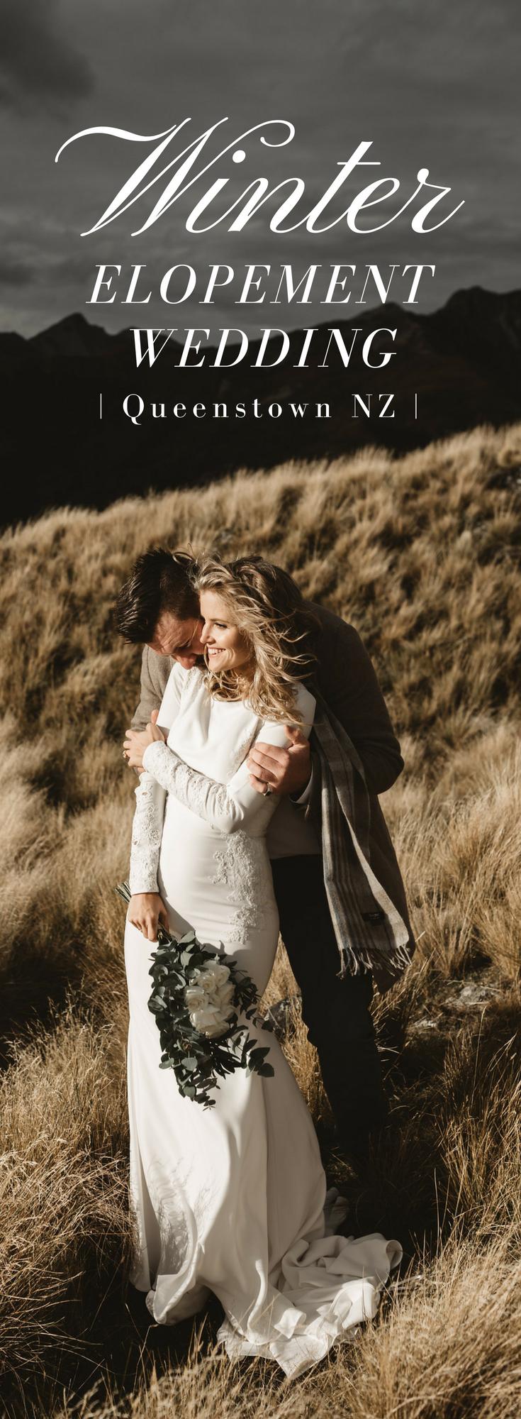 Winter Elopement Wedding in Queenstown New Zealand Elope