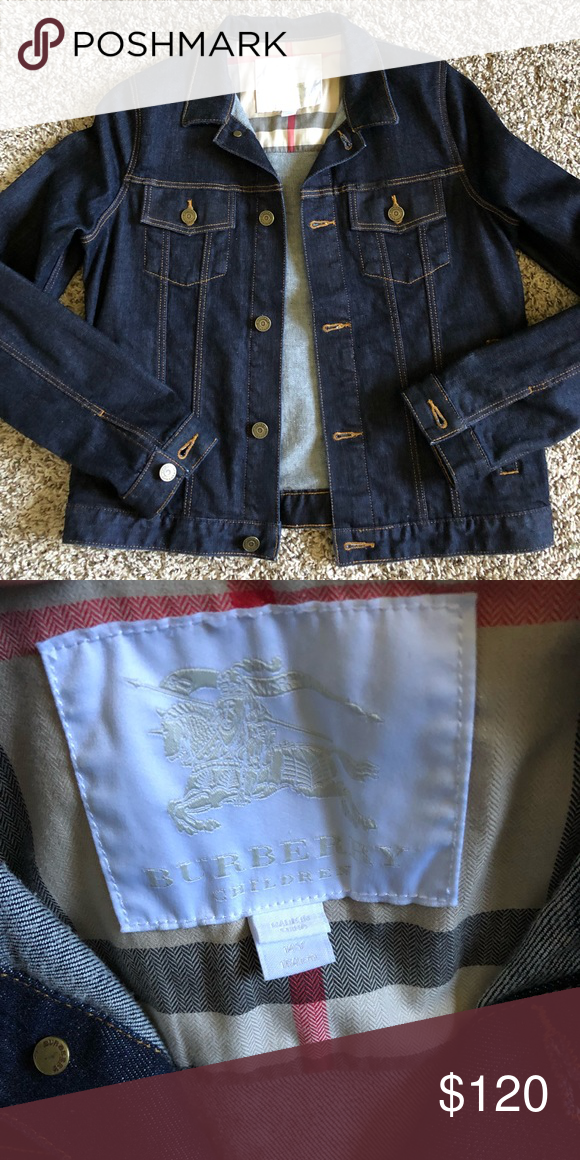 4732ce53461e Burberry denim jacket Like new no flaws to mention Size 14 kids which fits  a size small adult Burberry Jackets   Coats Jean Jackets