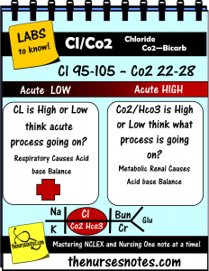 chloride co2 bicarb potassium hyperkalemia hypokalemia hyponatremia sodium  lab value blood hyponatremia mnemonic nursing student this is a collection  of my