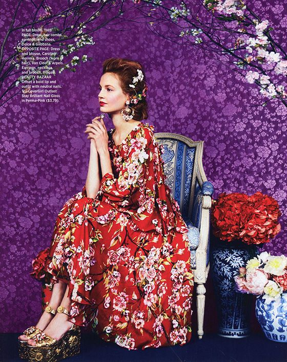 Beautiful Pattern as found in Harper's Bazaar Magazine's March 2014 Issue. Click to view all 5 of the glorious images. Photos by Erik Madigan Heck