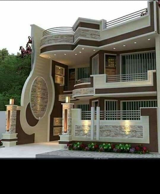 Top 40 Most Beautiful Houses 2019 In 2020 Modern Bungalow Exterior Facade House Facade Design