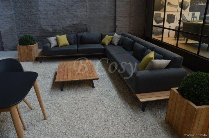 Gescova Dimaro 2 seat sofa left alu| Modulaire ch ...