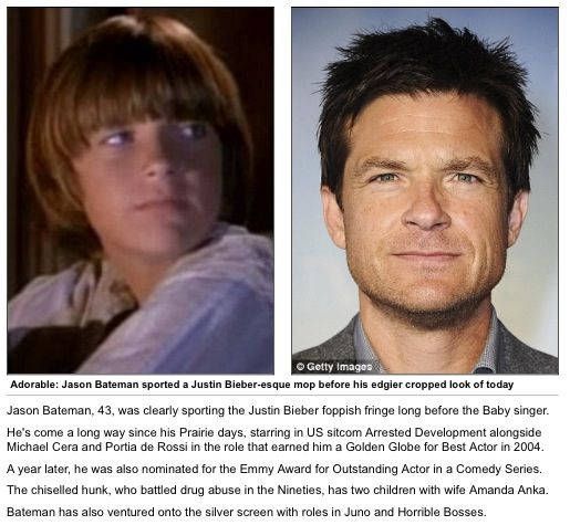 Wow! I didn't know that was Jason Bateman on Little House on the Prairie!