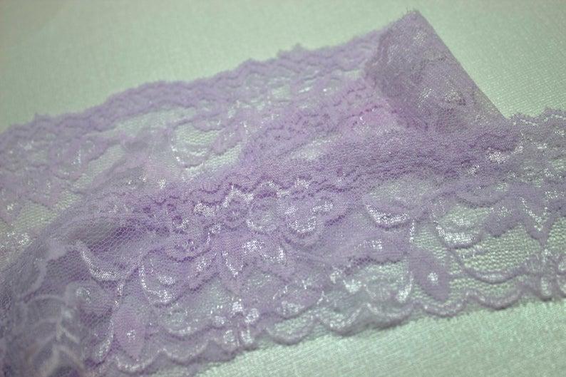 Elastic Lace 25mm Deep Lavender