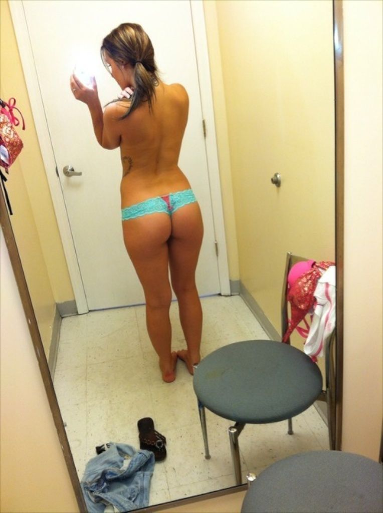 Asian Fitting Room Selfie