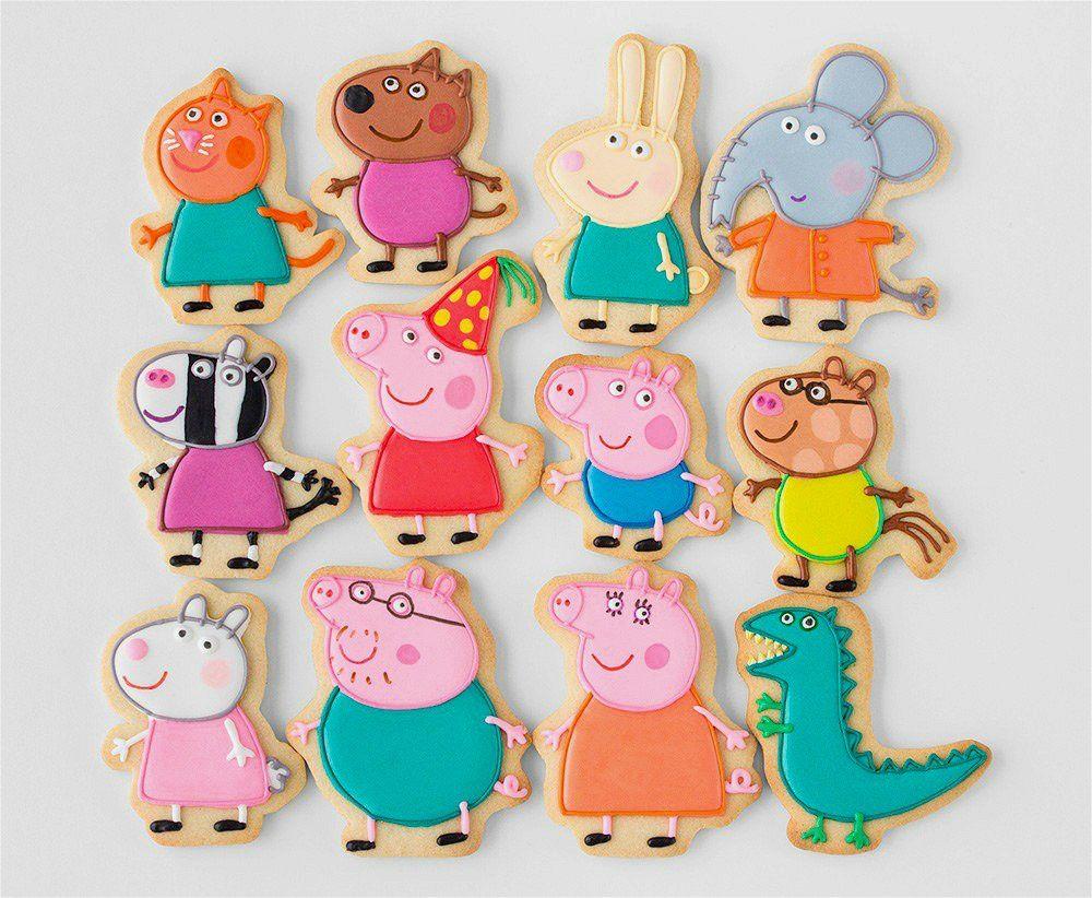 Honyao Peppa Pig Ausstechformen Peppa Pig George Schwein Papa Schwein Mummy Pig Schweinekopf Sonne Regens Schwein Kekse Peppa Schwein Kuchen Schwein Cupcakes