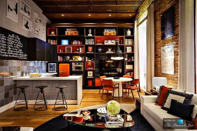 Multifunctional Brazilian Loft Apartment In The Style Of 70 S