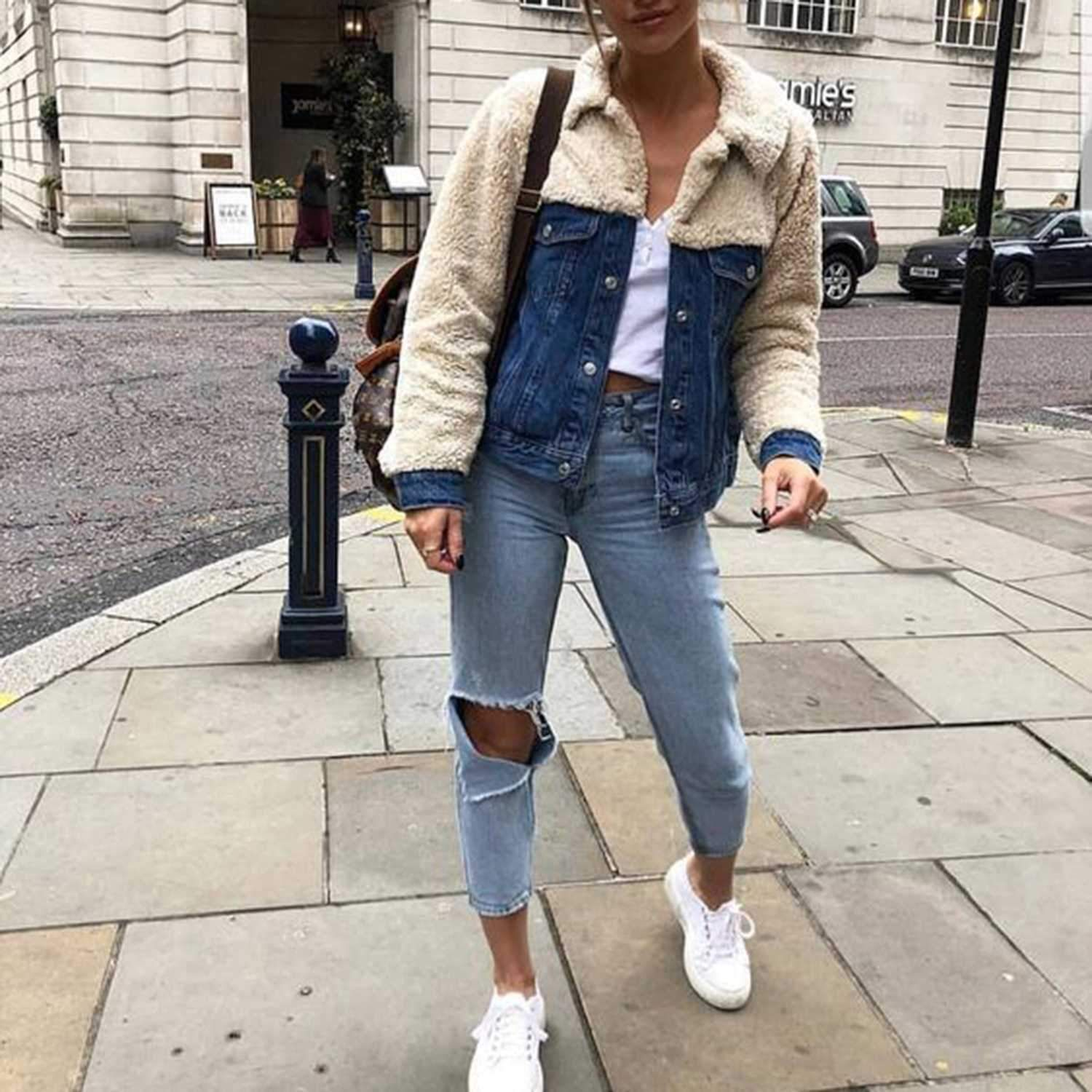 Black Friday Sale Get 20 Off Any 3 Items 25 Off 5 Items Faux Fur Denim Jacket Fashion Clothes Fall Outfits [ 1500 x 1500 Pixel ]