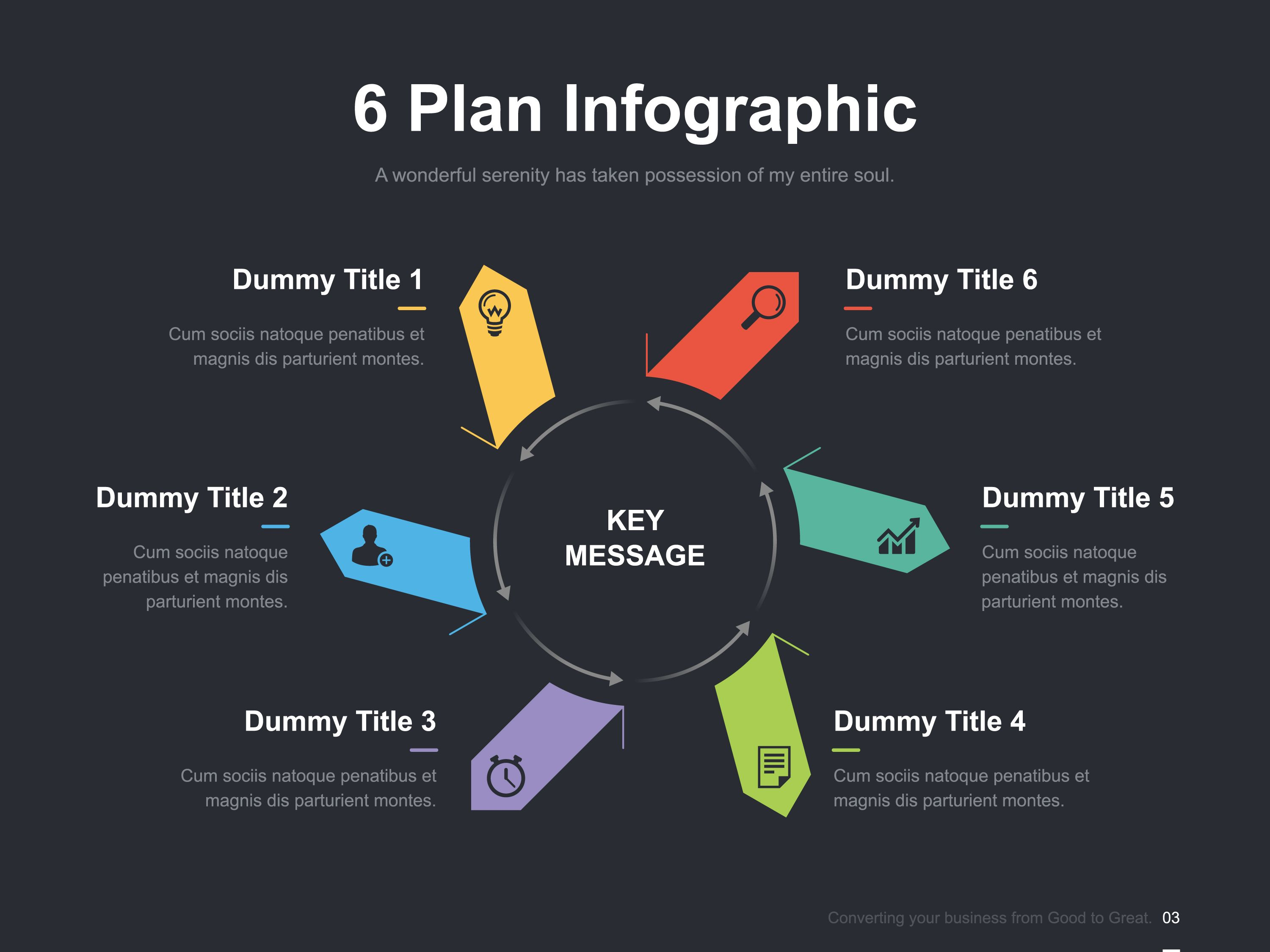 6 Plan Infographic>>>> #Graphic #Business, #Presentation, #Template