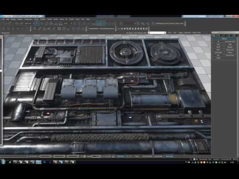 Paneling texture (Parallax occlusion mapping) | PRJ
