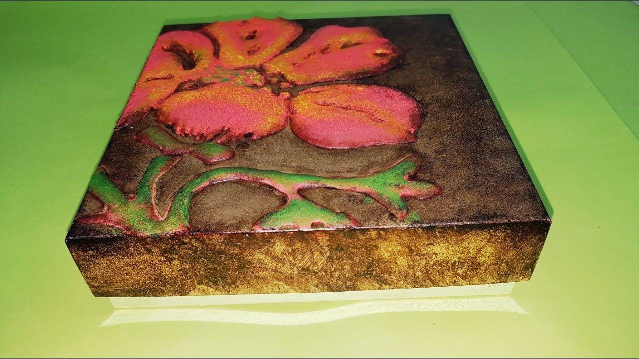 Caja con relieve en pasta de madera casera cajas y box - Marqueteria para ninos ...