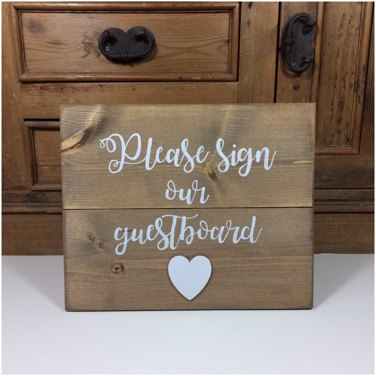 Wooden Wedding Sign To Be Used With Our Rustic Guest Board Please Book Alternative Wood