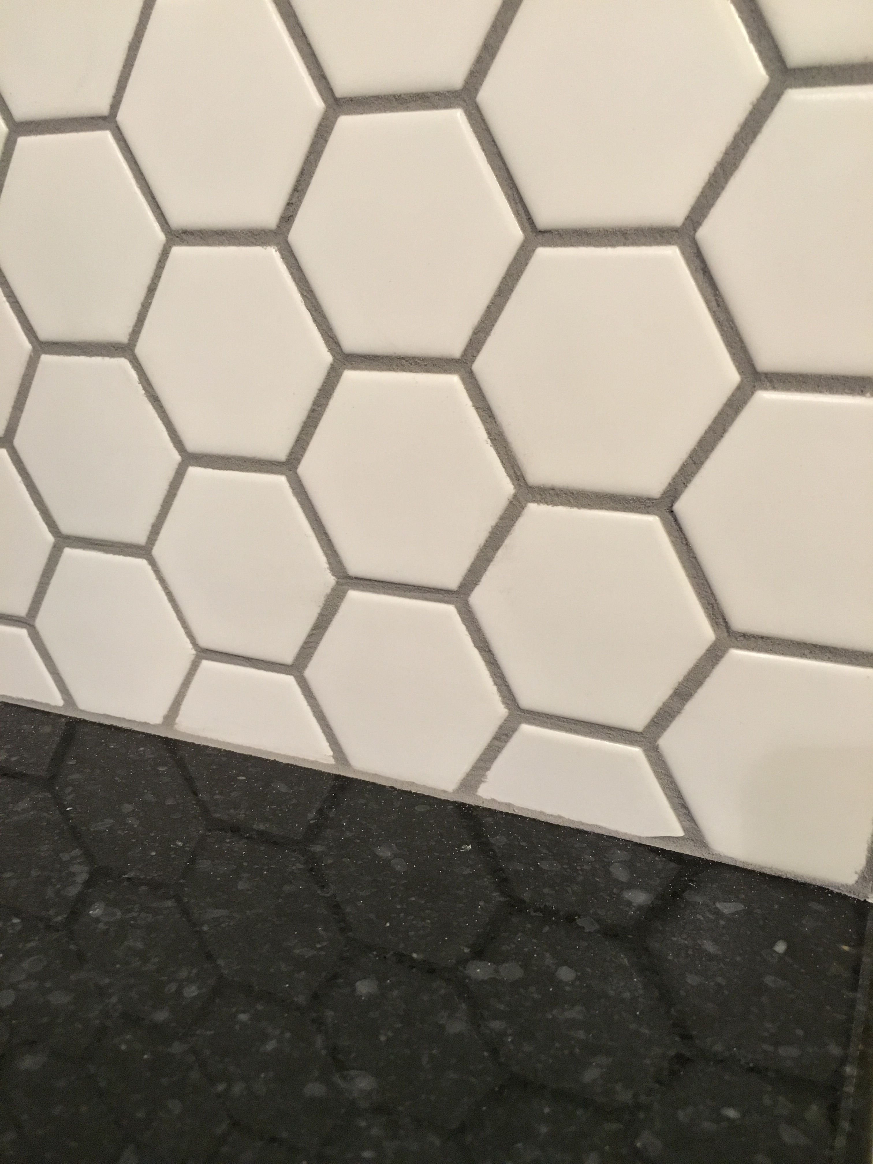 Honeycomb Porcelain Tile Matte White
